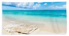 White Sand Beach Towel by Chad Dutson