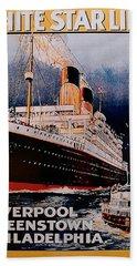 White Star Line Poster 1 Beach Towel