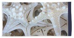 White Starfish Beach Towel