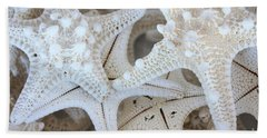 White Starfish Beach Towel