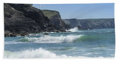 White Surf Beach Towel