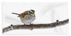 White-throated Sparrow Beach Towel