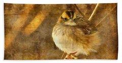 White Throated Sparrow Beach Towel