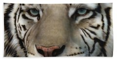 White Tiger - Up Close And Personal Beach Sheet