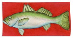 White Trout Beach Towel