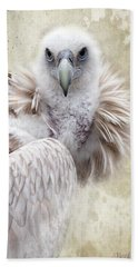 White Vulture  Beach Towel by Barbara Orenya
