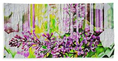 Beach Towel featuring the photograph White Washed Painted Lilac by Judy Palkimas