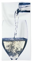 White Wine Pouring Beach Towel