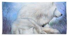 White Wolf Mates Beach Towel