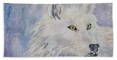 White Wolf Of The North Winds Beach Towel