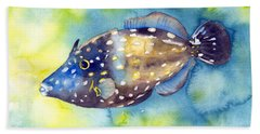 Whitespot Filefish Beach Towel