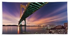 Beach Sheet featuring the photograph Whitestone Bridge by Mihai Andritoiu