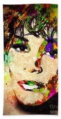 Whitney Houston Beach Towel by Daniel Janda