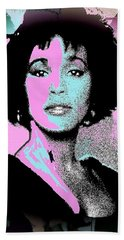 Whitney Houston Sing For Me Again Beach Towel