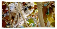 Whooo Are You? Beach Towel by Meghan at FireBonnet Art