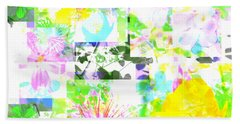 Wild About Flowers Beach Sheet by Barbara Moignard