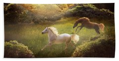 Beach Towel featuring the photograph Wild And Free by Melinda Hughes-Berland