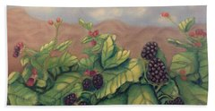 Wild Blackberries Beach Sheet