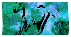 Wild Midnight Beach Towel