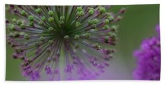 Beach Towel featuring the photograph Wild Onion by Heiko Koehrer-Wagner