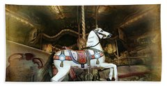 Beach Sheet featuring the photograph Wild Wooden Horse by Barbara Orenya