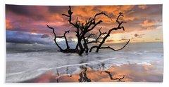 Wildfire Beach Towel by Debra and Dave Vanderlaan