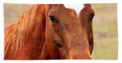 Wildfire - Equine Portrait Beach Towel