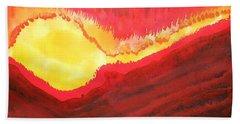 Wildfire Original Painting Beach Towel