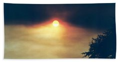 Beach Towel featuring the photograph Wildfire Smoky Sky by Kerri Mortenson