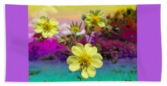 Wildflower Abstract Beach Towel