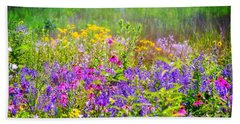 Wildflower Beauty  Beach Sheet