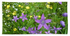 Beach Towel featuring the photograph Wildflower Garden by Martin Howard