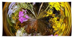 Beach Towel featuring the photograph Wildflower Paperweight by Gary Holmes