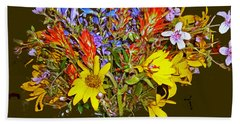 Wildflower Reminiscences Beach Towel
