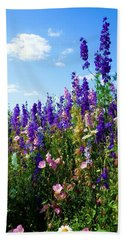 Wildflowers #9 Beach Towel by Robert ONeil