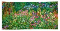 Beach Sheet featuring the painting Wildflowers Near Fancy Gap by Kendall Kessler