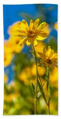 Wildflowers Standing Out Beach Towel