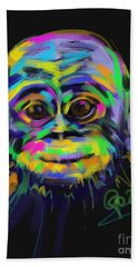 Wildlife Baby Chimp Beach Towel