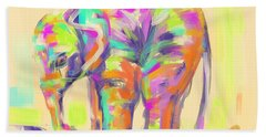 Wildlife Baby Elephant Beach Sheet