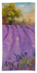Wildrain Lavender Farm Beach Sheet