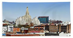 Williamsburg Savings Bank In Downtown Brooklyn Ny Beach Towel