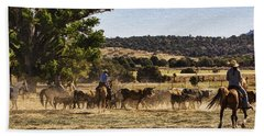 Williamson Valley Roundup 6 Beach Towel by Priscilla Burgers