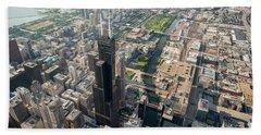 Willis Tower Southwest Chicago Aloft Beach Towel