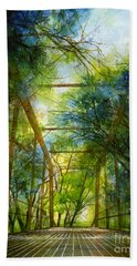 Willow Springs Road Bridge Beach Towel
