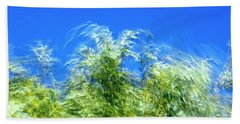 Willow Tree Foliage In The Wind Beach Towel