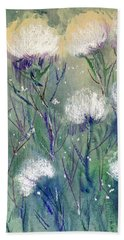 Willowy Whites Beach Towel