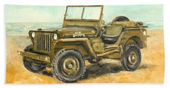 Willys Jeep Beach Towel