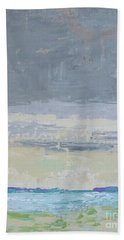 Wind And Rain On The Bay Beach Towel