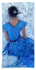 Beach Sheet featuring the painting Wind Of Hope.. by Cristina Mihailescu