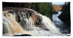 Winding Falls Beach Towel by James Peterson